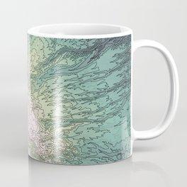 Mount Hood, Oregon Topographic Contour Map Coffee Mug