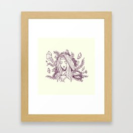 Maiden of Ice Framed Art Print
