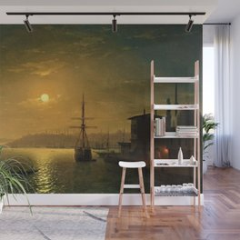 Constantinople (Istanbul) by Moonlight by Ivan Aivazovsky Wall Mural