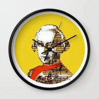 mozart Wall Clocks featuring Mozart Kugel Yellow by Marko Köppe
