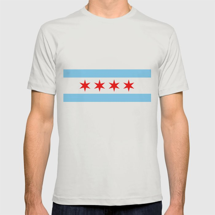 Chicago Flag T Shirt By Hhprint Society6