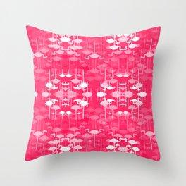 Flamingo land flip repeat, new colorway 5 Throw Pillow