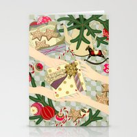 gift card Stationery Cards featuring Merry Christmas gift by Yuliya