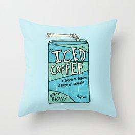 Iced Coffee Juicebox Throw Pillow