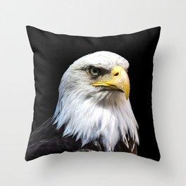 Majestuous Bald Eagle Throw Pillow