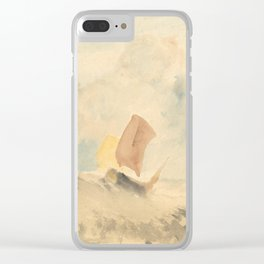 """J.M.W. Turner """"A Sea Piece - A Rough Sea With A Fishing Boat"""" Clear iPhone Case"""