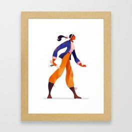 Pirate Girl Framed Art Print
