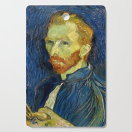 Vincent Van Gogh Self Portrait With Palette Cutting Board