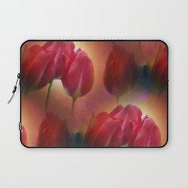 watercolored tulip pattern Laptop Sleeve