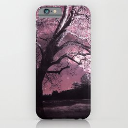 Surreal Fairytale Fantasy Pink Nature Trees Wall Art Home Decor iPhone Case