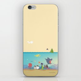 What's going on at the sea? Kids collection iPhone Skin