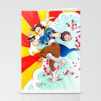 street fighter Stationery Cards featuring Chunli Street Fighter by Aimee Steinberger