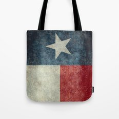 Texas state flag, Vertical retro vintage version  Tote Bag