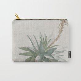 Vintage succulent aloe cactus agave antique botanical desert print boho tribal chic Carry-All Pouch