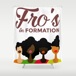 FROS IN FORMATION Shower Curtain