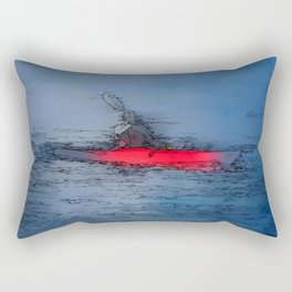 Wilderness Kayaker Rectangular Pillow
