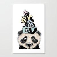 pandas Canvas Prints featuring pandas by Svenningsenmoller Design