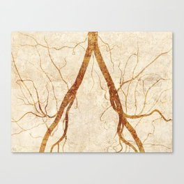 Bifurcation in white Canvas Print