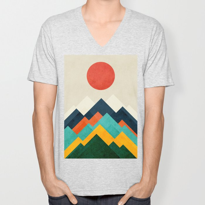 The hills are alive Unisex V-Neck