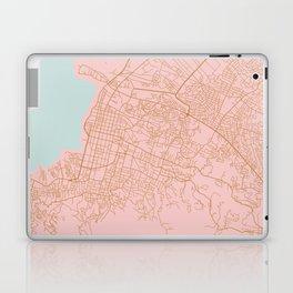 Pink Port au Prince map Laptop & iPad Skin