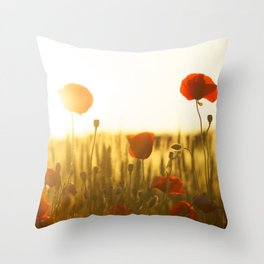 Sunset tulipe Throw Pillow