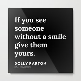 28      191120   Dolly Parton Quotes Metal Print