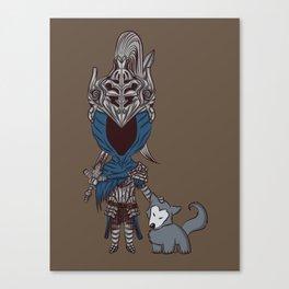Artorias & Sif Chibi Canvas Print