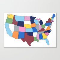 usa Canvas Prints featuring USA by Project M