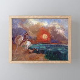 Saint George and the Dragon by Odilon Redon Framed Mini Art Print