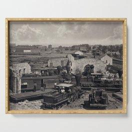 Civil War, Atlanta Roundhouse destroyed, 1866  Serving Tray