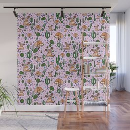 Cute Fennec Fox Pattern Wall Mural