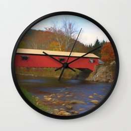 Forksville Covered Bridge Wall Clock