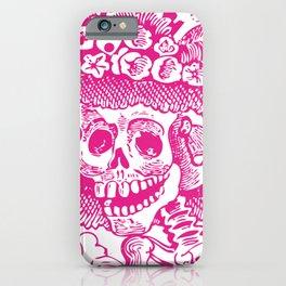 Calavera Catrina | Skeleton Woman | Pink and White | iPhone Case