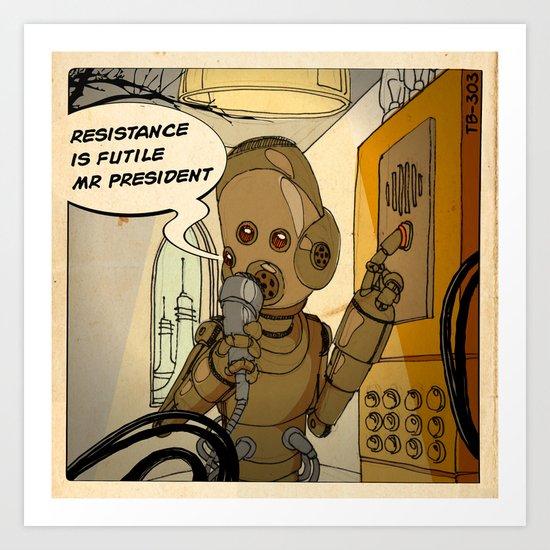 Mars is calling Art Print