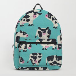 Cow Collection – Turquoise Backpack