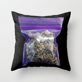gram of cannabis Throw Pillow