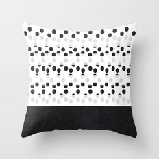 I see dots in black and white! Throw Pillow