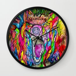 Guardian of Owl Farm Wall Clock