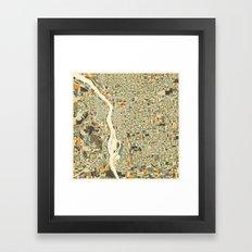 PORTLAND Map Framed Art Print