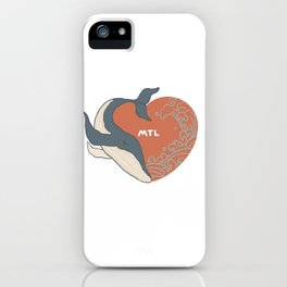 Beloved whale. iPhone Case