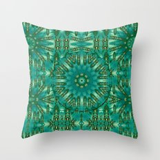 Sunset and Heavy Metal Throw Pillow