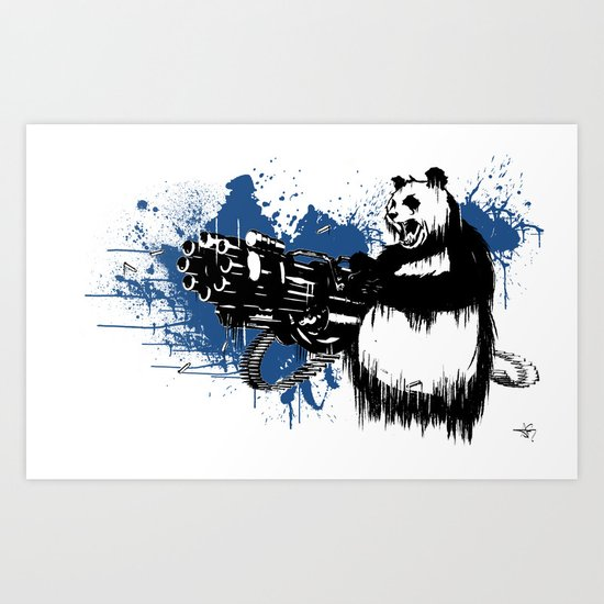 Badass Panda Art Print By Alyssagreco