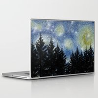 starry night Laptop & iPad Skins featuring Starry Night by Astrablink7