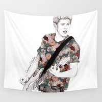 coconutwishes Wall Tapestries featuring Floral Niall by Coconut Wishes