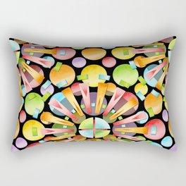 Candy Rainbow Mandala Rectangular Pillow