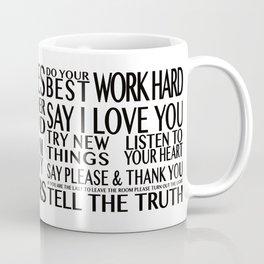 Family Rules 2 Coffee Mug