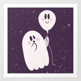 Pink Ghost and Friend Art Print
