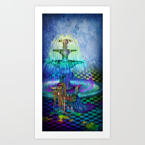 Princess of colors Art Print
