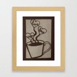 Live, Love, Coffee Framed Art Print