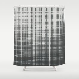 irregular check-sage Shower Curtain